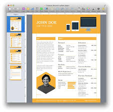 Free Creative Resume Template Modern Cv Word Cover Throughout