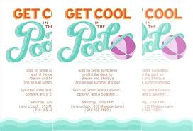 Party Invitation Template Word Free Printable Pool Party Invitation Template Sample Templates