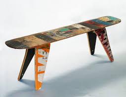 recycled furniture design. Skateboard Deck Furniture Recycled Design