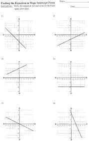 slope intercept form worksheet answers photos mindgearlabs writing equations in slope intercept form worksheet answers