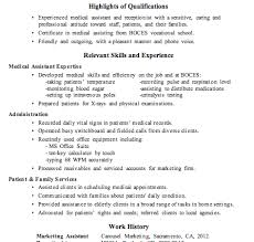 resume sample receptionist medical assistant medical assistant sample resume objectives for medical assistant