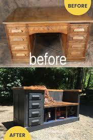 repurposed furniture ideas. Repurposed Desk To Upcycled Bench Idea / Grillo Designs  Www.grillo-designs.com Repurposed Furniture Ideas O