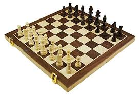 Wooden Board Game With Marbles House of Marbles Standard Wooden FoldUp Chess Set 98