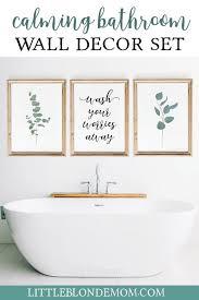 bathroom wall decor set of 3 wall art