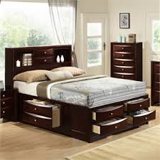 King platform storage bed Drawer Elements Madison Storage Bed In Mahogany Cymax Platform King Size Beds Cymax Stores