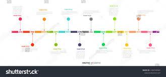 Year Timeline Timeline Presentation For 1 Year 12 Months Timeline Infographics