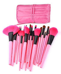 look at this my makeup brush set pink 24 piece makeup brush set on