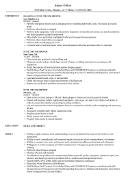 Resume For Trucker Example Template Sample And Tips Genius