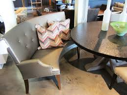 cozy curved settee for round dining table pizzafino ideas and images gray design
