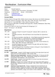 Bms Operator Resume Format You can download Ron Harpham's CV Word format heredoc 1