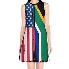 Ada Kgh Womens American South African Flag Sleeveless O