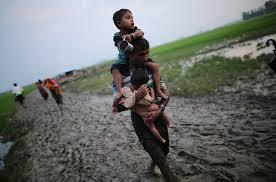 Image result for 150 هزار زن و کودک میانماری در حال مرگ از گرسنگی
