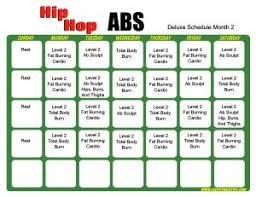 Hip Hop Abs Workout Chart Hip Hop Abs Schedule Deluxe Month 2 Workout Calendar Hip