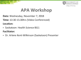 Apa Workshop By Arlene Kent Wilkinson Rn Phd Kent Wilkinson Ppt