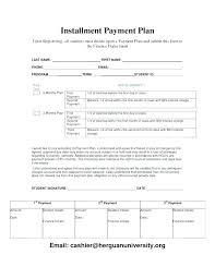 Payment Plan Template Payment Plan Form Sample Poporon Co
