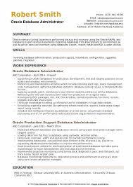 Oracle Database Administrator Resume Samples Qwikresume