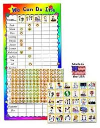 Details About Kenson Kids We Can Do It Classroom Chart 24 Names Static Cling Dry Erase