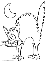 Small Picture Scary Cat Coloring Pages Coloring Pages