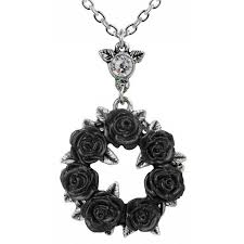 ring o black roses gothic wreath necklace at jewelry gem sterling silver jewerly