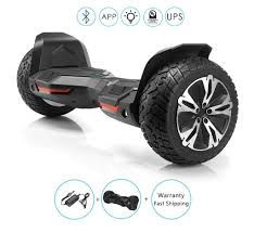 Black Hoverboard With Bluetooth And Lights Off Road Self Balancing Hoverboard With Bluetooth Speakers