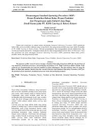 Pdf Perancangan Standard Operating Procedure Sop Proses Pembelian