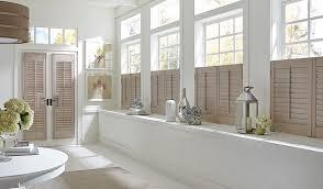 tan half window shutters door shutters