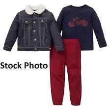 Little Me Clothing Size Chart Details About Little Me Toddler Boys 3 Piece Denim Pant Set 2t Blue
