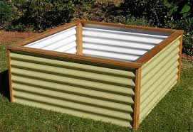 corrugated metal raised garden bed