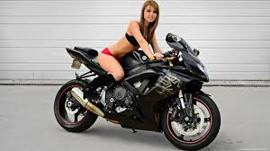 Girls in bikinis on motorcycles wallpaper