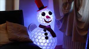 Christmas Lights Solo Cups Diy Plastic Cup Snowman Lights Christmas Decor Tutorial
