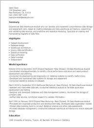professional data warehouse analyst templates to showcase your    resume templates  data warehouse analyst