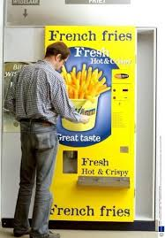 French Vending Machine Cool French Fry Vending Machine Vending Machines Pinterest