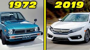 Honda Civic Design Evolution Honda Civic History Evolution 1972 2019 4k