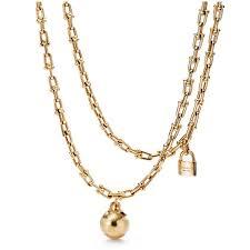 tiffany city hardwear wrap gold necklace