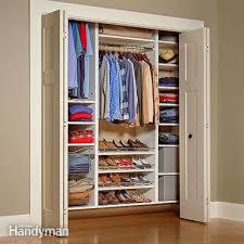 How to build closet shelves Do It Yourself Closet Organizers Storage The Family Handyman Dantescatalogscom Closet Organizers Storage The Family Handyman Murphy Bed With Closet
