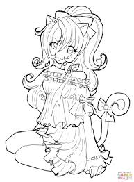 Small Picture Cat Girl coloring page Free Printable Coloring Pages