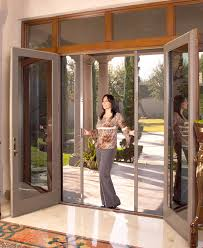 exterior french doors with retractable screens