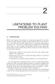 process engineering problem solving wiley  17 8 limitations to plant problem solving