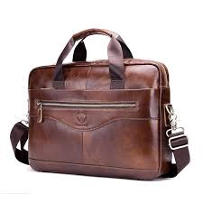 luxury genuine leather men briefcases real cowhide handbag shoulder bags vintage business laptop travel bags men s briefcase