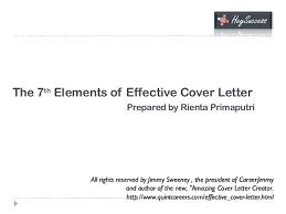 Elements Of A Good Cover Letter The 100 Elements of a Highly Effective Cover Letter 12
