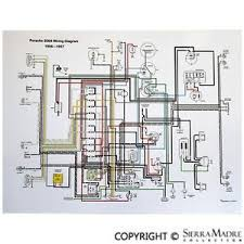 full color wiring diagram porsche 356 t1 1956 early 1957 image is loading full color wiring diagram porsche 356 t1 1956