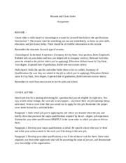 2 pages FAU ENC 3213 Resume and Cover Letter Assignment