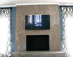 concrete fireplace mounted wallpaper hearth removal mantel shelves