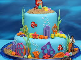 Ariel Cake Decorations Under The Sea Ariel Birthday Cake Cakecentralcom