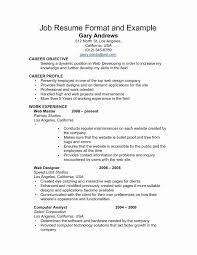 9 10 Resume After First Job After College Sacxtracom