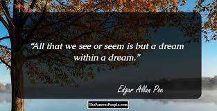 Edgar Allan Poe Life Quotes Impressive 48 Inspirational Quotes By Edgar Allen Poe That Will Help You See
