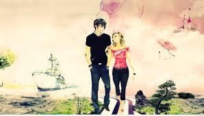3d cute love couple wallpaper
