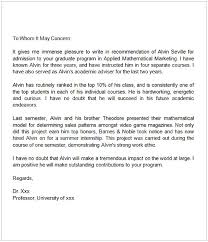 Sample Of A Recommendation Letter Sample Letter Of Recommendation For Graduate School From Coworker