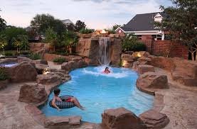 Pool Designs With Waterfalls And Slides Waterfall2 Pool Designs