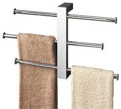 towel bar with towel. Beautiful Towel Polished Chrome Towel Rack With 3 Sliding Rails In Bar